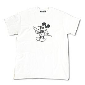 Chillax×Disney Mickey(ディズニー)サーファー ミッキーマウス フロントプリント Tシャツ