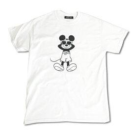 Chillax×Disney Mickey(ディズニー)タンニング ミッキーマウス フロントプリント Tシャツ