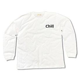 RHC Ron Herman (ロンハーマン): Chillax 「Chill」ロング Tシャツ(ホワイト)