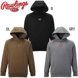 パッチロゴスウェットパーカーシャツ【Rawlings】ローリングス 野球 ウェア スウェット 21FW(AOS11F03)*20