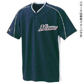 ナショナルチームモデル シャツ オープンタイプ (14ネイビー×レッドパイピング×ゴールドパイピング) 【MIZUNO】ミズノ 野球 ウエア ユニフォームシャツ*30