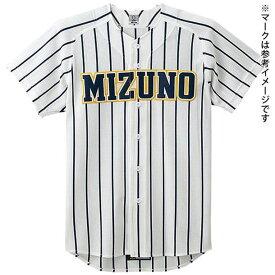 ビクトリーステージメッシュシャツ(オープン型)(野球) (14ホワイト×ネイビーストライプ) 【MIZUNO】ミズノ 野球 ウエア ユニフォームシャツ (52MW17*26