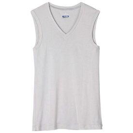 Vネックノースリーブシャツ (03ライトグレー) 【MIZUNO】ミズノ アウトドア アンダーウエア アイスタッチ (C2JA510203)*60