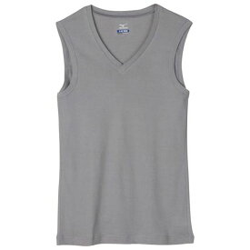 Vネックノースリーブシャツ (07チャコール) 【MIZUNO】ミズノ アウトドア アンダーウエア アイスタッチ (C2JA510207)*60