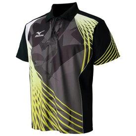 ゲームシャツ(卓球) (94ブラック×ライムグリーン) 【MIZUNO】ミズノ 卓球 ウエア (82JA600694)*42