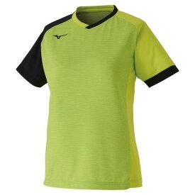 ゲームシャツ(卓球)(レディース)(37ライムグリーン×ブラック)【MIZUNO】ミズノ卓球 ウエア ゲームウエア(82JA0203)*23