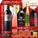 【1月末迄期間限定 おまけ付】金賞受賞ワインとお手頃ワイン「赤・泡ワイン」5本セット 赤ワイン スパークリングワイ…