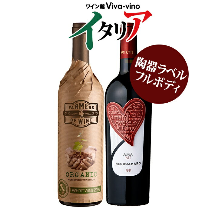 【送料無料 北海道・沖縄・離島を除く】 イタリア産 赤白2本セット白ワイン/赤ワイン/イタリアワイン/ギフトセット/辛口/ワインセット【party】【gift】【G】