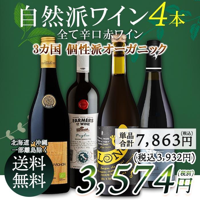 【送料無料】オーガニックのお酒集めました 赤ワイン3本セット 辛口 フランス スペイン ワイン メダル メダルワイン ワインセット ビオワイン 自然派 BIO ギフト 贈り物 クリスマス