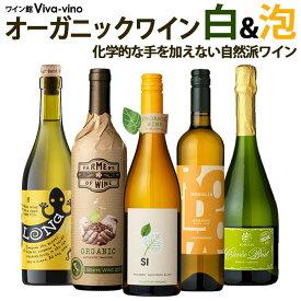 送料無料 北海道・沖縄・離島を除く オーガニックのお酒集めました ビオワイン白&泡 バラエティ5本セット 辛口 白ワイン スパークリング