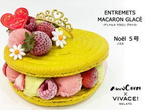 【ノエル 5号】【メッセージプレート無料】大人4〜6名様分 VIVACE! ヴィヴァーチェ アントルメグラッセ アイスケーキ アイス ジェラート フルーツ 手作り 誕生日ケーキ プレゼント 贈り