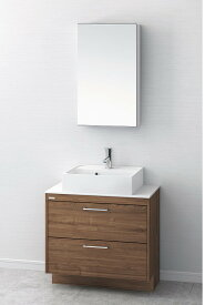洗面台 おしゃれ 洗面化粧台 間口750mm アサヒ衛陶 デューク 一面鏡 MM450N LKDU750AFNJMM45 送料無料