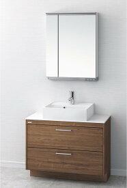 洗面台 おしゃれ 洗面化粧台 間口900mm アサヒ衛陶 デューク 二面鏡 MML600N LKDU900AFNJMML60 送料無料