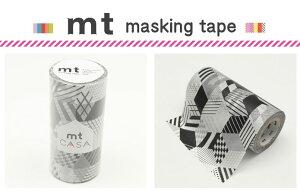 マスキングテープ リメイクシート ボックス・モノクロ カモ井加工紙 mt CASA 100mm 【マスキングテープ】