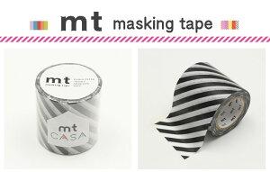 マスキングテープ リメイクシート ストライプ・ブラック カモ井加工紙 mt CASA 50mm 【マスキングテープ】