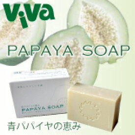 PAPAYA SOAP パパイヤソープ 100g《洗顔石鹸(石鹸/石けん/洗顔せっけん)やボディソープに・ギフトに》《バイオノーマライザー/三旺インターナショナル》