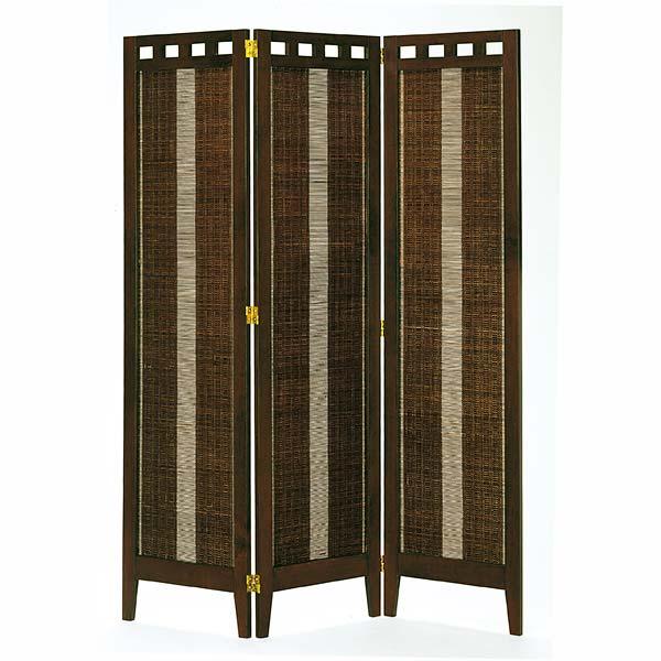3連スクリーン エスニック色 幅41.6×3P 高さ130 天然木 竹材 衝立 パーテーション 間仕切り ナチュラル シンプル 和テイスト デザイン SC-316 インテリア 家具 雑貨 セール 送料無料 ヴィヴェンティエ