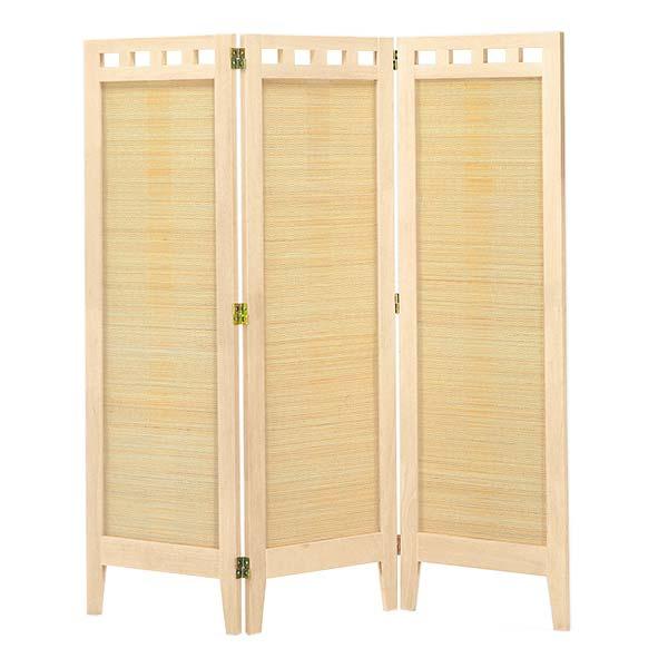 3連スクリーン ホワイト色 幅41.6×3P 高さ130 天然木 竹材 衝立 パーテーション 間仕切り ナチュラル シンプル 和テイスト デザイン SC-313 インテリア 家具 雑貨 セール 送料無料 ヴィヴェンティエ