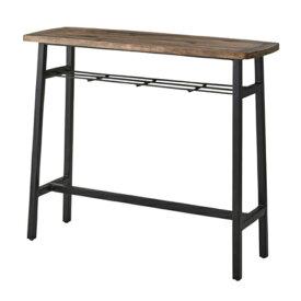 カウンターテーブル PM-454 幅120cm 奥行45cm 高さ101cm 天然木 パイン材 ダーク色 アイアン(粉体塗装) シンプル デザイン 西海岸 東谷 インテリア 送料無料 ヴィヴェンティエ