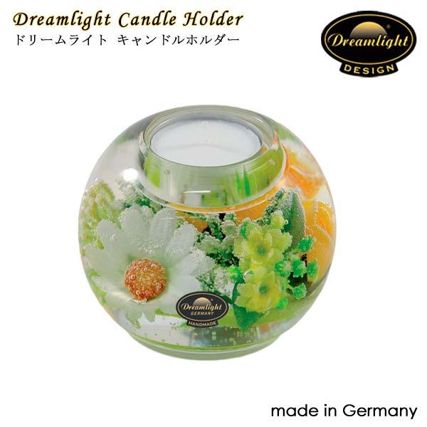 Dreamlightドリームライト キャンドルホルダー スプリングフラワー CDD1941 マーキュリー 直径90×80mm キャンドルホルダー ガラス ドイツ製 Dream Light Hand Made GERMANY
