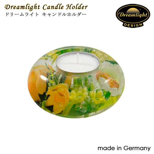 Dreamlightドリームライト キャンドルホルダー スプリングフラワー CDD2341 UFO(S) 直径90×50mm キャンドルホルダー ガラス ドイツ製 Dream Light Hand Made GERMANY