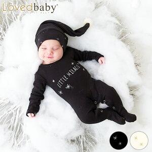 L'ovedbaby 足つき ロンパース キャップ セットカバーオール 帽子 付き Overall & Cap Set Lovedbaby ラブドベビー ベビー 赤ちゃん オーガニックコットン おしゃれ かわいい 女の子 男の子