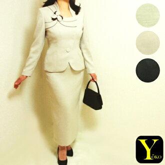 "The ☆ asymmetric beautiful woman long tight skirt suit / Rakuten card division that handmade ""flower motif & piping"" shines"