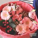 あす楽 【 送料無料 】 バラ ( 薔薇 )と 季節 の お花 の アレンジ ブーケ タイプL ピンク ボリューム 花 花束 アレン…