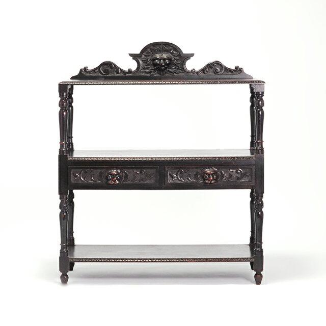【英国アンティーク家具】サイドボード ディスプレイテーブル オーク材 イギリス クラシック 格好いい VA1098