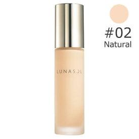【カネボウ】ルナソル グロウイング ウォータリー オイル リクイド #02 natural SPF25 PA++ 30ml [ファンデーション kanebou] 【LUNASOL】