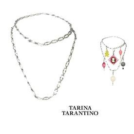 LAセレブ愛用ブランドTarina tarantino  タリナ・タランティーノマルチチェーン ベルトにも2連ネックレスにもシンプルでチャームをつけれる シルバー