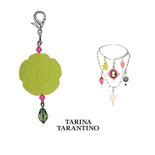 LAセレブ愛用ブランドTarina tarantino タリナ・タランティーノオーバルチャーム オリーブ キーホルダーやファスナーのチャーム、ネックレスやブレスレット、ストラップなどにも!かわいい ポップ kitson キットソン