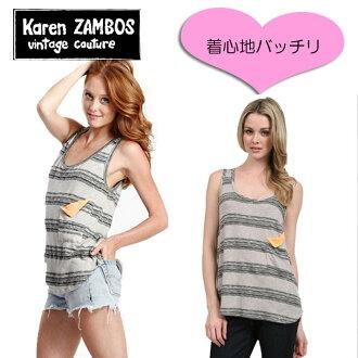 Karen zambos vintage couture calenzanbos neon motifs are cute! border tank