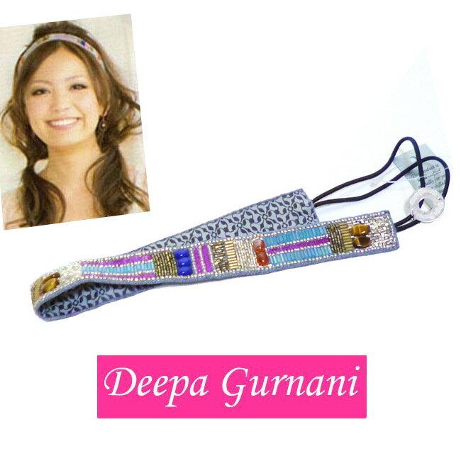 Deepa gurnaniディーパ・グアナーニマルチヘッドバンド ビーズ ゴージャス ボヘミアン おしゃれ かわいい 上品 ロンハーマン デコラティブ ヘアバンド ヘアアクセサリー