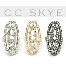 LAセレブ愛用ブランドCC SKYEシーシースカイラインストーンがゴージャス♪ゴシックリング ロングオーバルリング キラキラ ロック ヴィンテージライク きれいめ かっこいい 指輪