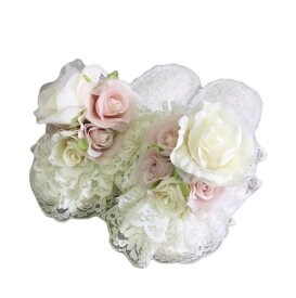 洗えるプリンセス系スリッパ 7202651 ホワイト ルームシューズ 薔薇 バラ ばら フラワー 姫系 かわいい