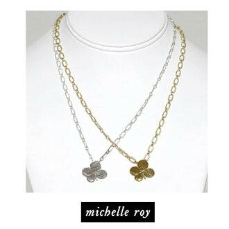 被LA名流爱用名牌Michelle roy米歇尔·罗伊真货的三叶草浸泡!项链4叶子的三叶草clover silver gold银子925黄金浸泡的kitson基特森波希米亚人喜爱的幸运