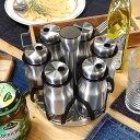ポイント3倍 K20-0126/6 カーブド スパイス ジャー セット オブ 6 CURVED SPICE JAR SET OF 6 調味料入れセット スパ…