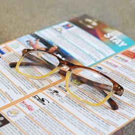 定形外郵便送料無料 べっ甲風 老眼鏡 デザインがモダンなシニアグラス 福祉 介護 ルーペ Reading Glasses 老眼 DULTON ダルトン 敬老の日 YGK107