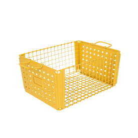 D.M.S GYM 21L YELLOW/レトロスチール製収納ボックス/収納ボックス/ボックス/小物入れ/小物収納/収納box/収納ケース/収納箱/BOX/衣類収納/整理ボックス/スチール/整理/収納//DULTON/ダルトン/113-299YL