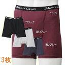 尿漏れパンツ 男性用 メンズ さわやかガードトランクス ショート 3枚セット [ 送料無料 + ラッキーシール + 後払い可 ] 尿もれパンツ …
