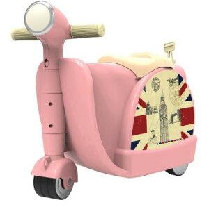 乗れるスーツケース 子供 キャリーバッグ スーツ ケース スクーター/ピンク [送料無料 輸入品] キャリーケース かわいい 旅行バッグ キャスター 旅行カバン キャリーバッグ トランク トラン