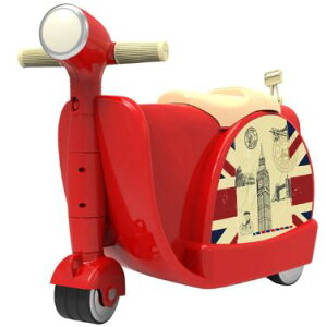乗れるスーツケース 子供 キャリーバッグ スーツ ケース スクーター/赤 [送料無料 輸入品] キャリーケース かわいい 旅行バッグ キャスター 旅行カバン キャリーバッグ トランク トランクケ