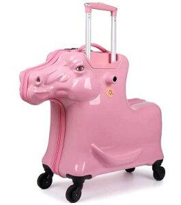 乗れるスーツケース 子供 キャリーバッグ スーツ ケース 馬/ピンク [送料無料 輸入品] キャリーケース かわいい 旅行バッグ キャスター 旅行カバン キャリーバッグ トランク トランクケース