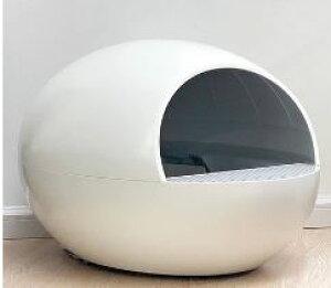 猫 トイレ 自動 ペット おしゃれ 全自動猫トイレ ホワイト白 ドームタイプ [送料無料 輸入品] ドーム型 猫用トイレ ネコ用トイレ ペット用品 ねこトイレ オート ネコトイレ キャットトイレ