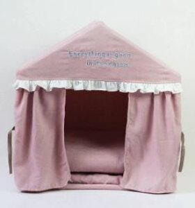 犬 猫 ハウス おしゃれ 室内 ドッグハウス キャットハウス ピンク色:2/サイズ:M [送料無料 輸入品] ペットベッド 洗える ドーム 通年 カーテン付 屋根付テントハウス室内用 犬用品 猫用品