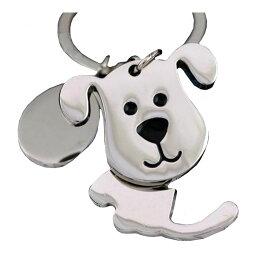 キーホルダー キーリング 犬 いぬ メタル シルバー しっぽ が 揺れる チャーム バッグ その他