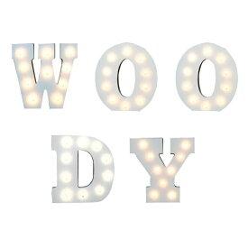 ウッデンマーキーライト マーキーライト WOODY アルファベット イニシャル ローマ字 木製 ライト 壁掛け オブジェ 電飾 ブロック型 マーキー レター 海外 人気 木 ウッド wooden marquee light 看板 光る