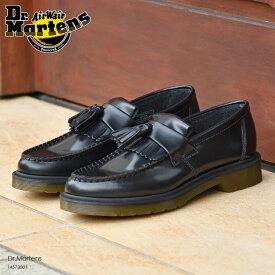 特別価格 ドクターマーチン タッセルローファー レディース Dr.Martens ADRIAN SLIP ON SHOE BLACK POLISHED SMOOTH 14573001