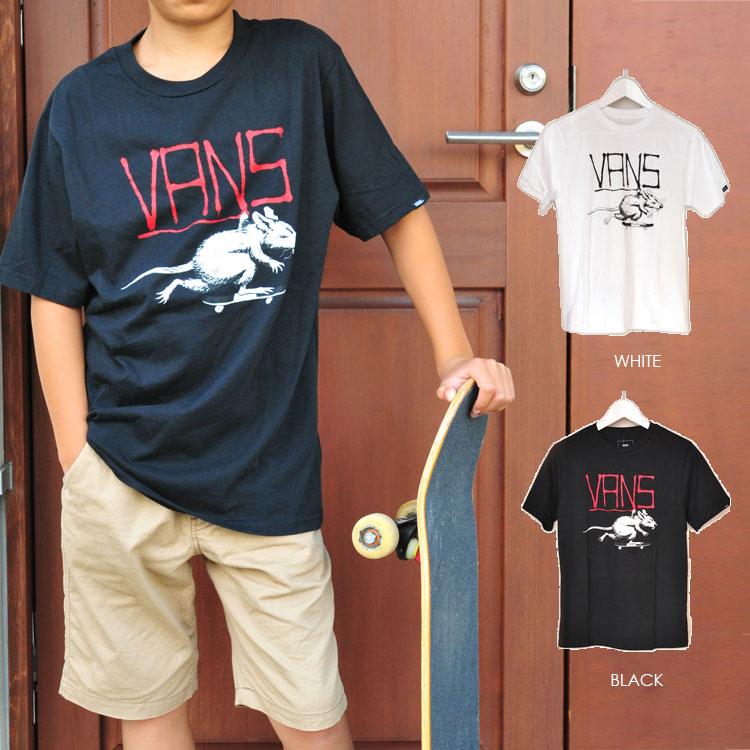 メール便 アメリカ企画 VANS バンズ ヴァンズ Tシャツ キッズ RATS BOYS S/S T-SHIRTS 半袖 プリント ロゴTシャツ 子供用 ジュニア